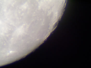 the moon through my telescope